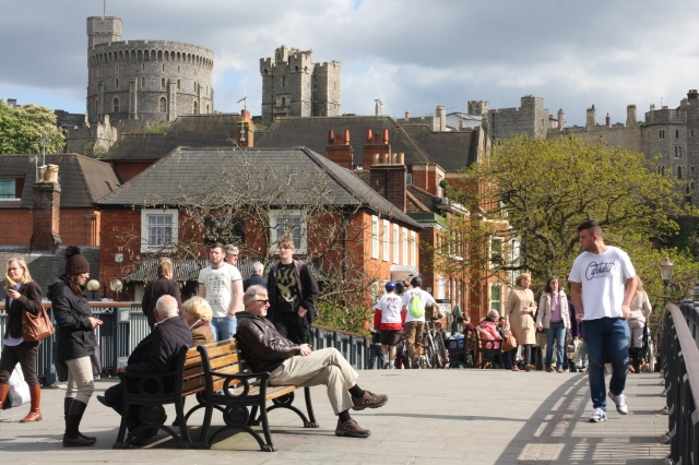 Windsor is bustling with life as families and friends take in the scenery of a town known for its history, opulence and royal connotation.