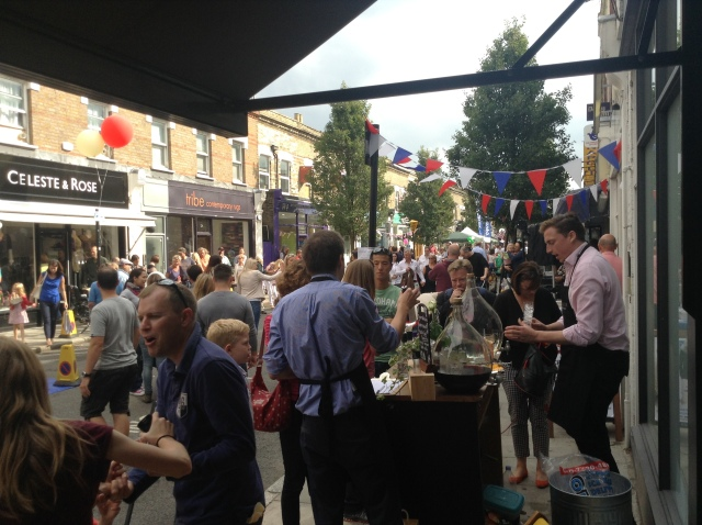 Visited by throngs, Chiswick hosts the Devnoshire Road Street Party.